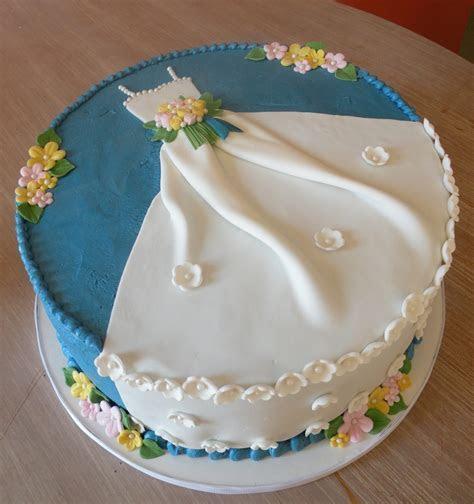 """Ble Bridal Shower """"dress"""" Cake   CakeCentral.com"""