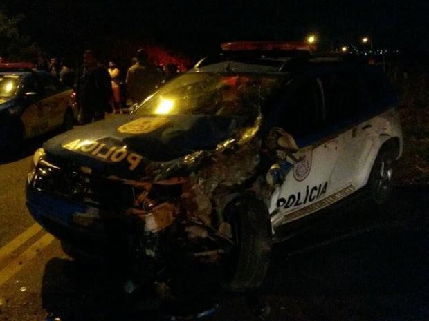 Colisão aconteceu na Estrada do Guriri (Foto: Bebeto Karolla/ Folha de Búzios)