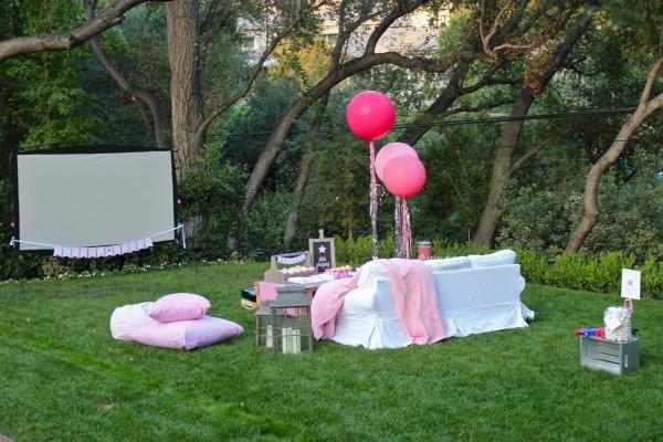 Teen Outdoor Movie Birthday Party Ideas