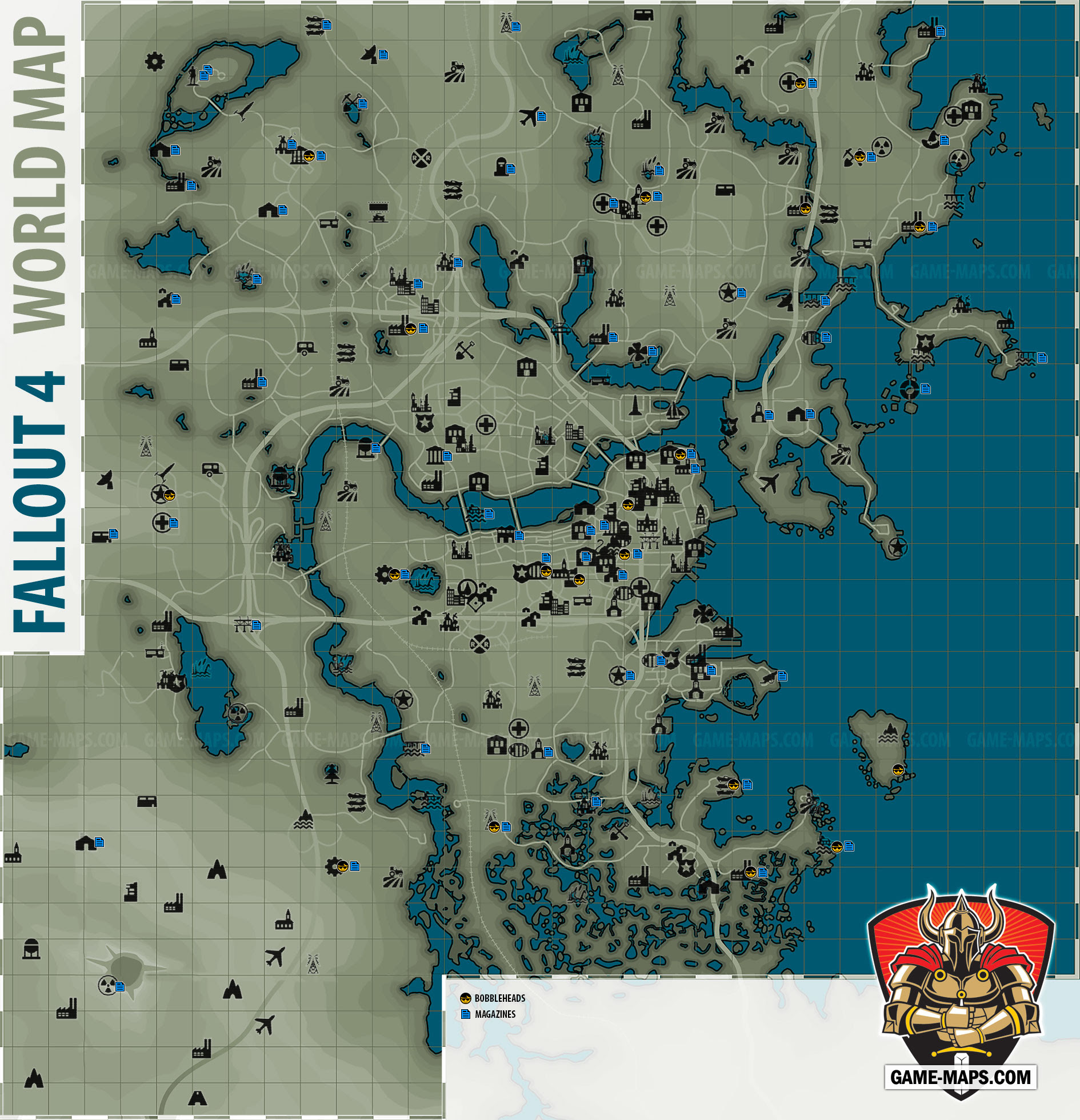Fallout 4 Us Map.Us Map Location Games