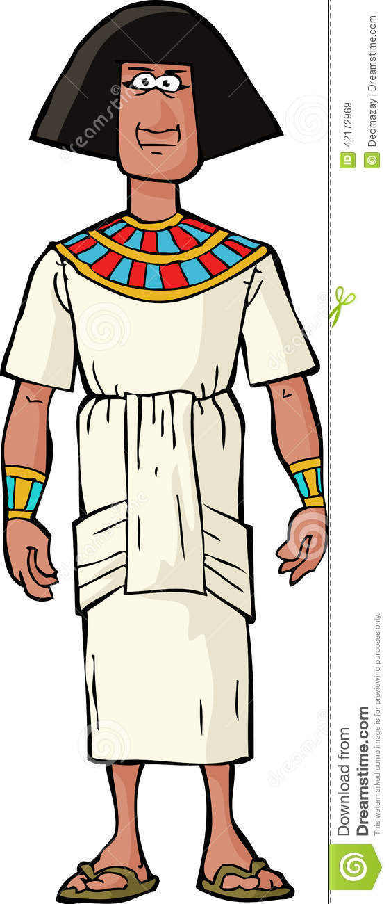 ancient egyptian nobleman white background 42172969