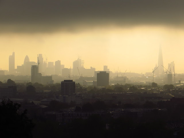 The City of London's skyline seen from Parliament Hill