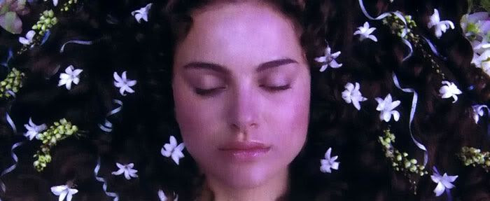 Padme in her casket in REVENGE OF THE SITH.