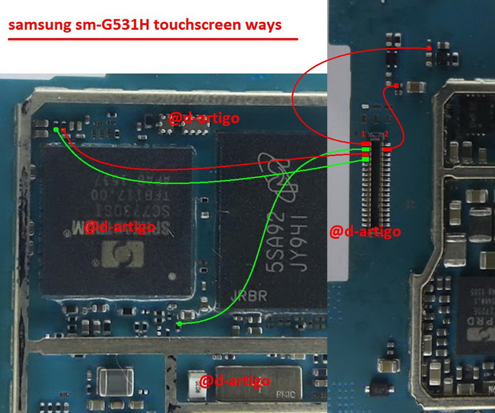 Samsung Galaxy Grand Prime G531H touch screen not working problem solution jumpers
