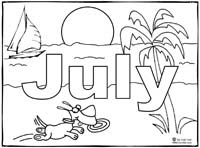 July Coloring Page | Sing Laugh Learn