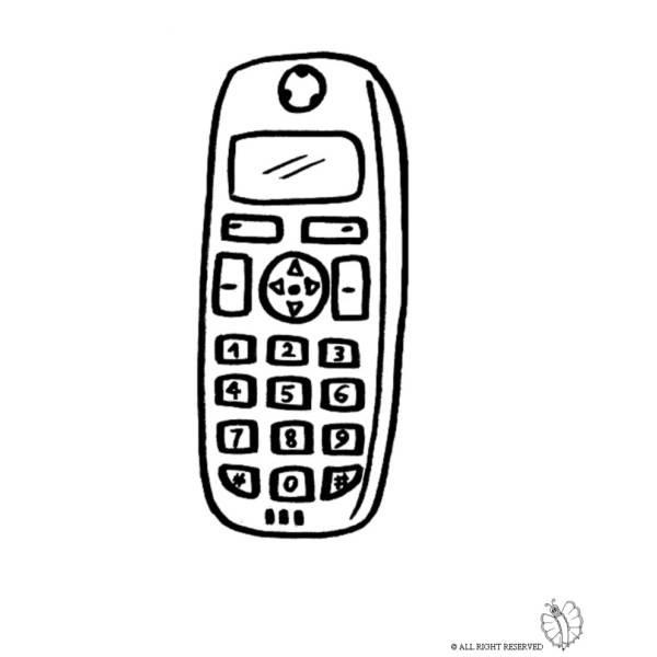 Disegno Di Telefonino Cellulare Da Colorare Per Bambini