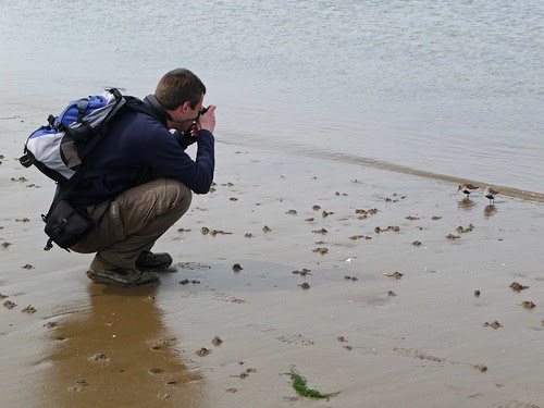 12389 - Me Photographing Dunlin