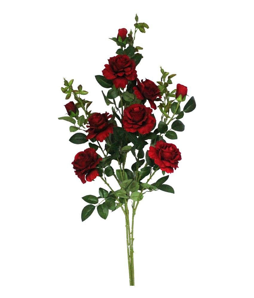 57% OFF on Pollination Red Rose Artificial Flowers on Snapdeal  PaisaWapas.com