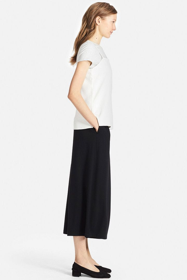 Uniqlo Tuck Flare Wide Pants