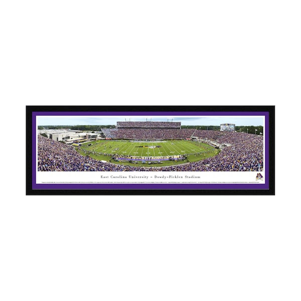 East Carolina Pirates 16 X 42 Select Frame Panoramic Photo
