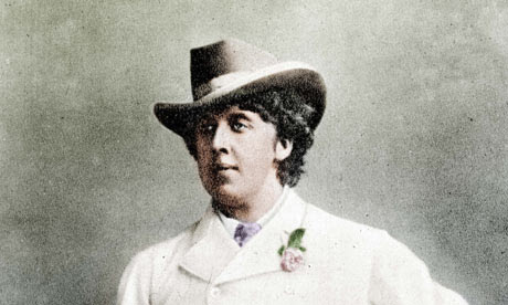 Oscar Wilde (1854-1900), Irish writer, in holidays