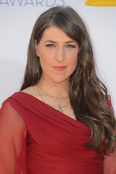 Actress Mayim Bialik arrives at the 64th Annual Primetime Emmy Awards at Nokia Theatre L.A. Live on September 23, 2012 in Los Angeles, California.