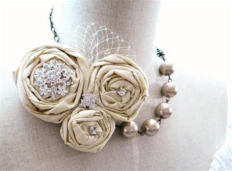 Bridal Statement Necklace   Handmade Wedding   Emmaline Bride®