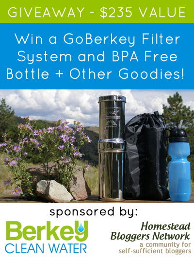 Go Berkey Giveaway Bundle. $235 value.