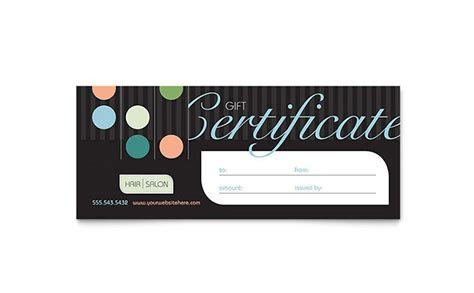 Beauty & Hair Salon Gift Certificate Template   Word