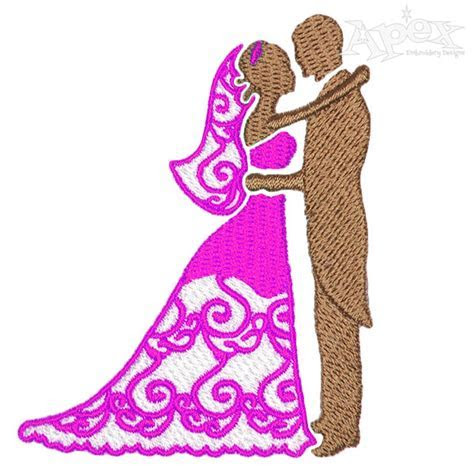 Wedding Couple Embroidery Design