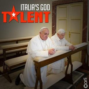 RATZINGER E BERGOGLIO ITALIA S GOD TALENT BY CARLI