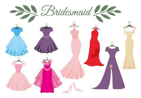 Free Wedding Dress Bridesmaid Vector   Download Free