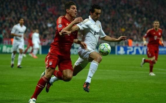 Champions League, FC Bayern Munich vs Real Madrid, Mario Gomez, Alvaro Arbeloa
