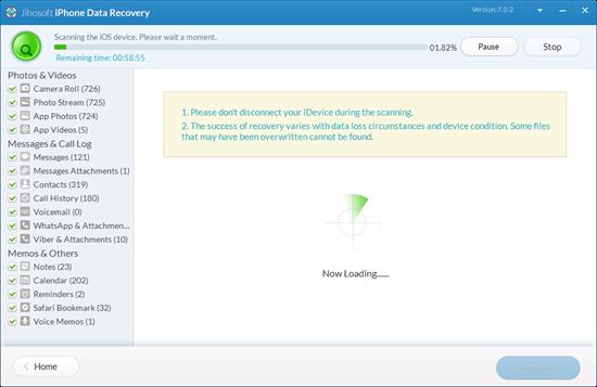 Jihosoft iPhone Data Recovery User Guide