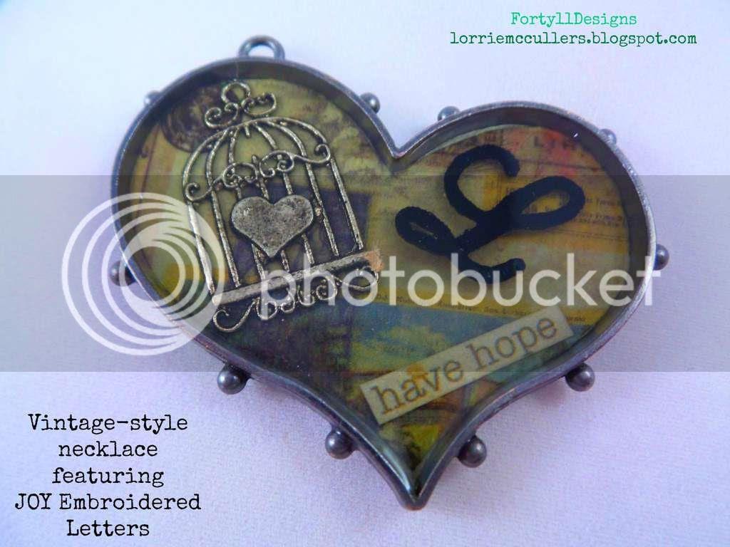 vintage resin pendant
