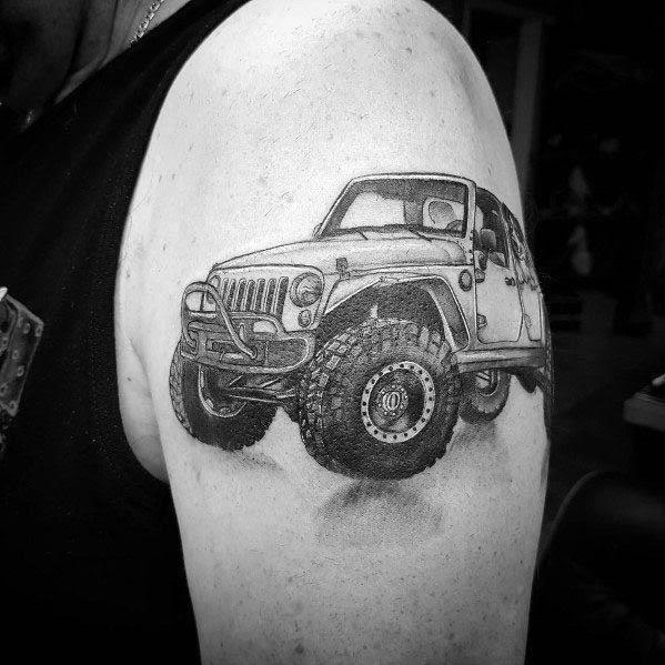 Jeep Tattoo Designs On Men