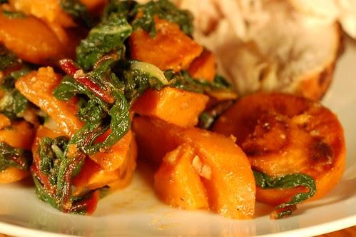 Sweet Potatoes & Winter Greens by Eve Fox, Garden of Eating blog