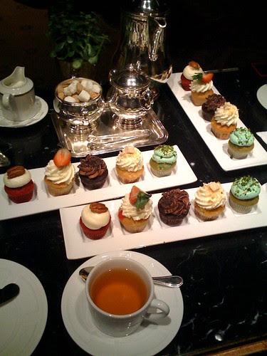 Ritz-Carlton cupcake tea