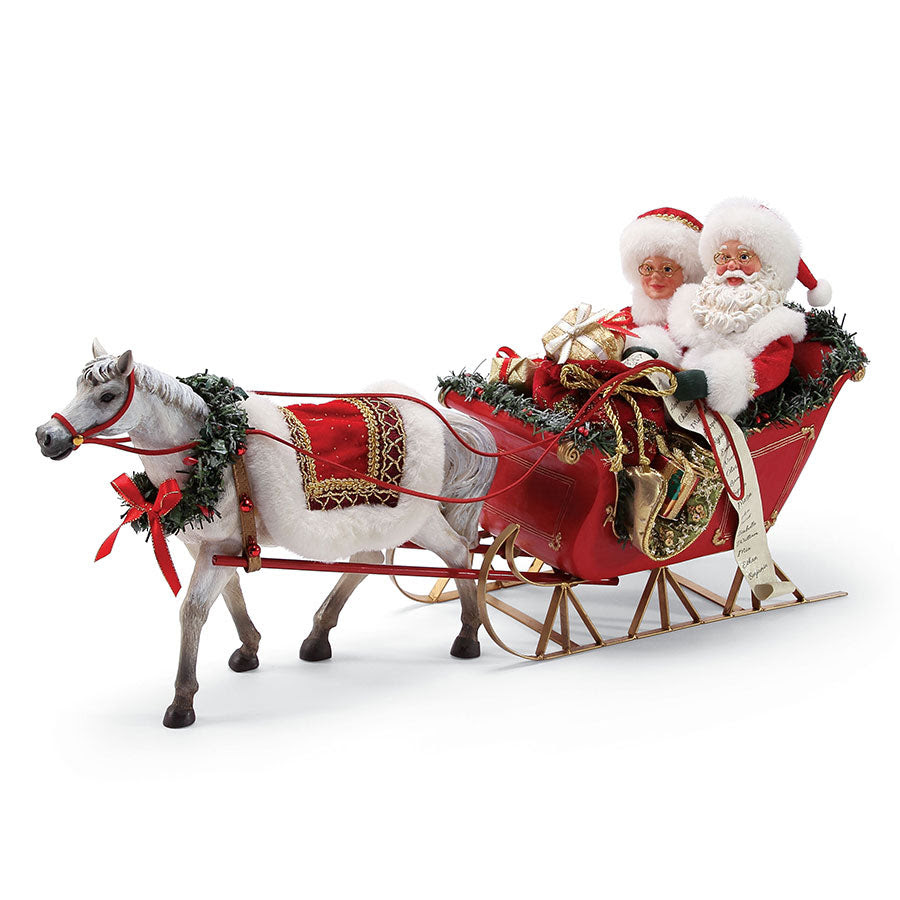 Christmas Traditions Xmspd One Horse Open Sleigh 6000717