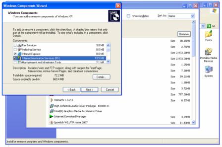 img51 Hướng dẫn cài đặt IIS trên Windows XP