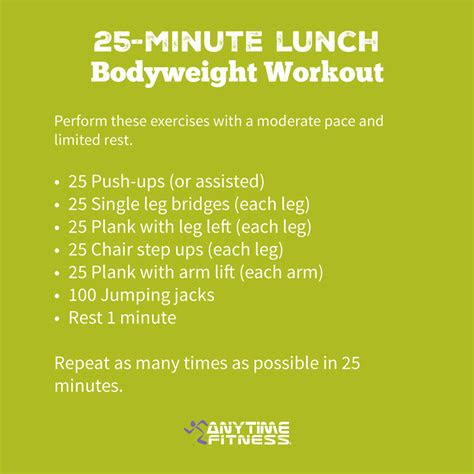 minute lunch bodyweight workout