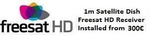 1m satellite dish installations for uk tv freesat HD costa blanca spain