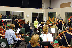 Further string sessions took place at Syrland Studios, with a  larger ensemble. For an even more intimate sound, all their instruments were miked with clip–on DPA omnis.