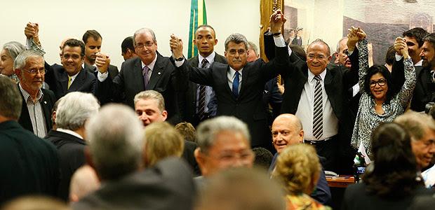 BRASÍLIA, DF, 29.03.2016, BRASIL, - Reunião do diretório nacional do PMDB que decide a saída do partido da presidente Dilma Rousseff. (Foto Pedro Ladeira/Folhapress)