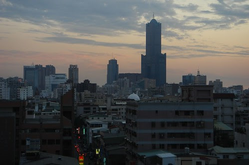 kaohsiung city at sunset