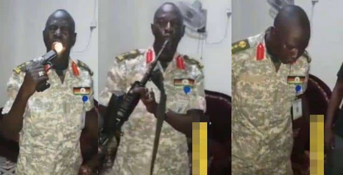 Soldier fires gun into his mouth to put his bulletproof charm to work (video)