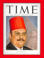 King Farouk on the cover of the time for the second time