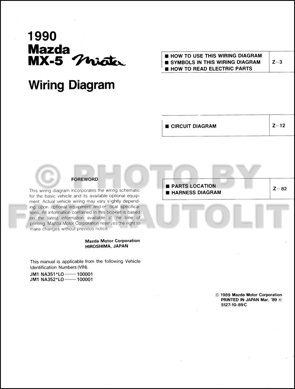 Wiring Diagram  28 1990 Mazda Miata Wiring Diagram