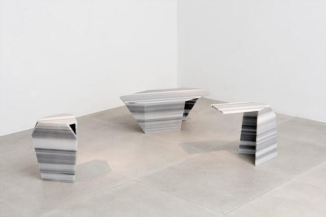 07 'Exercise' collection of tables and stools by Robert Stadler for Carpenters Workshop Gallery