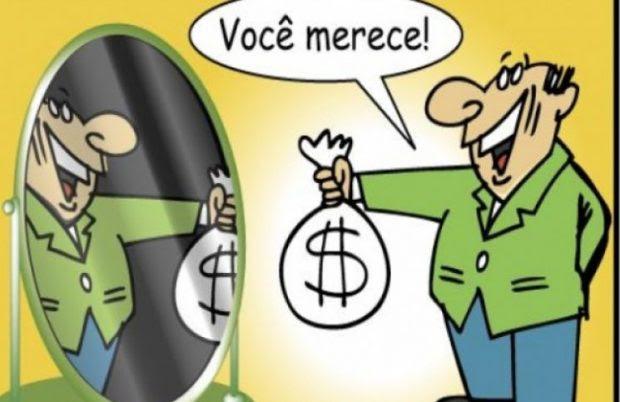 Resultado de imagem para charge prefeito dinheiro