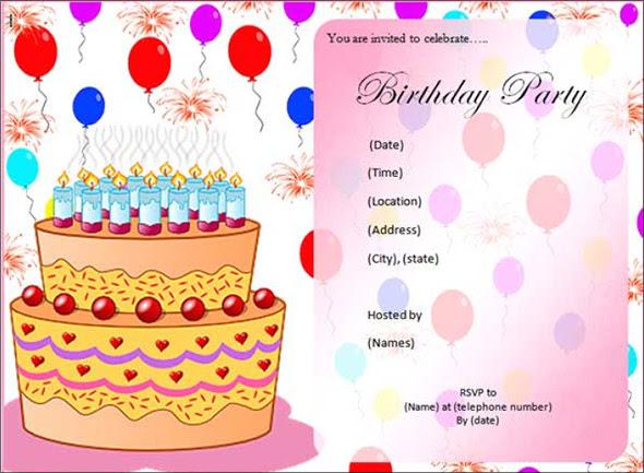 Editable Birthday Invitation Cards Calendar June