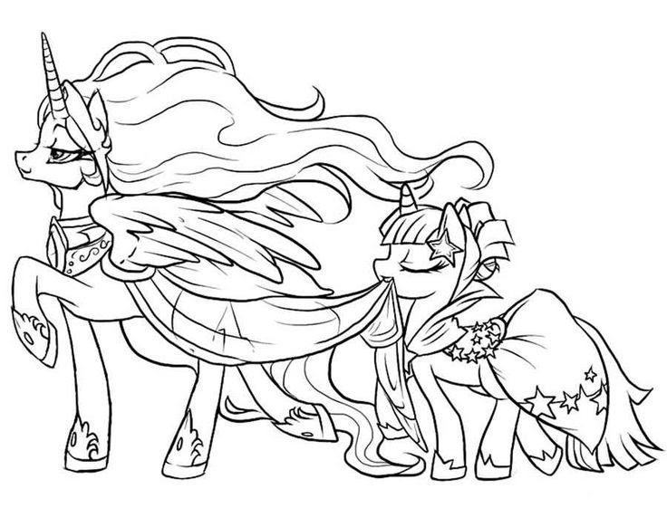 My Little Pony Movie Coloring Pages - Coloring And Drawing