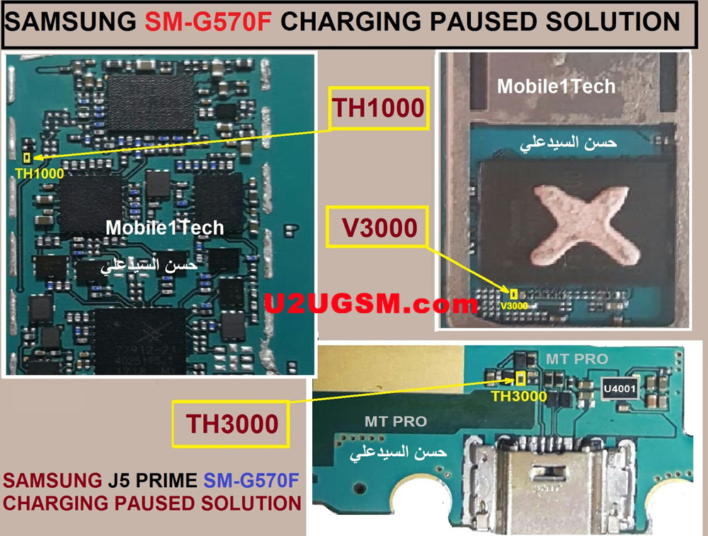Samsung Galaxy J5 Prime G570F Charging Paused Solution Jumpers