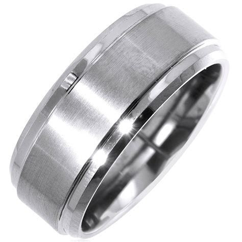 2019 Latest Mens Square Wedding Bands