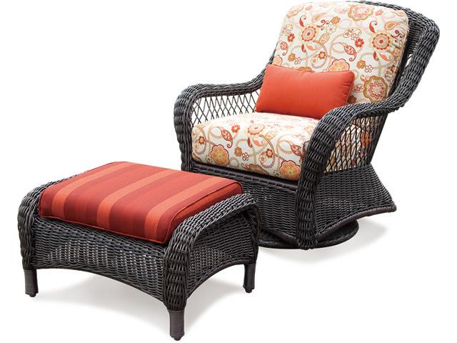 Providence Swivel Glider Chair & Ottoman