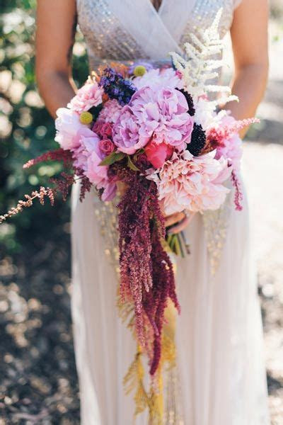 Unique White and Blush Wedding Bouquet Inspiration By