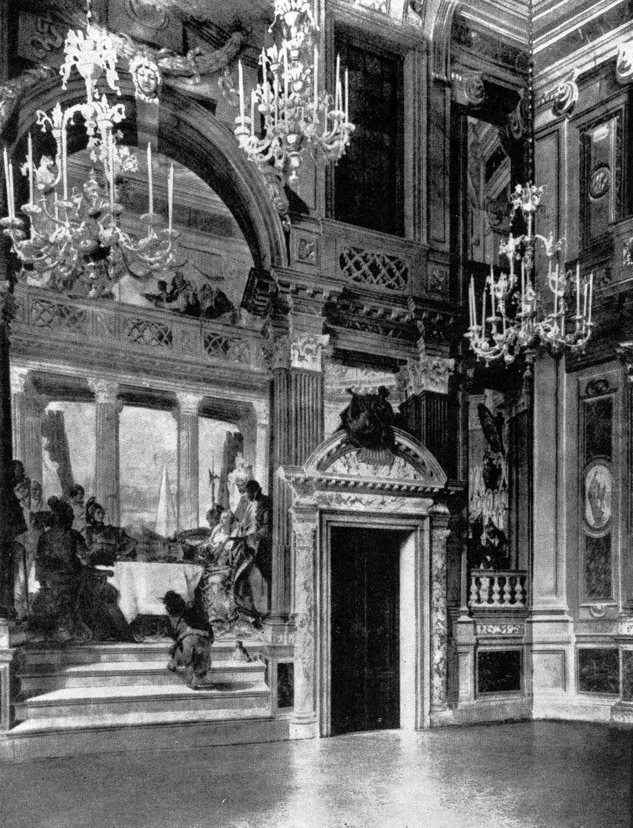 Джованни Баттиста Тьеполо. Роспись Большого зала палаццо Лабиа в Венеции. После 1745 г.