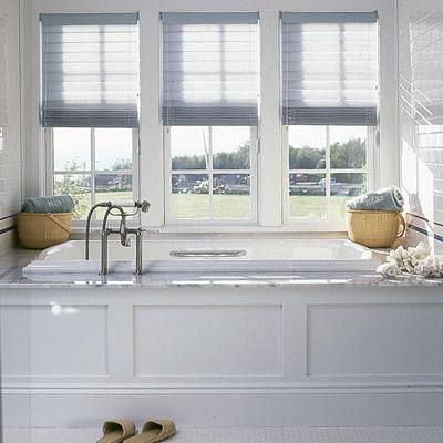 drop in tub, bathroom spa feel, wainscott, beadboard, white, carrara marble traditional bathroom