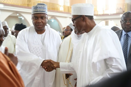 Buhari & Saraki Attend Special Prayer For Nigerian 56th Independence Anniversary