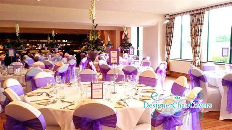Cadbury purple organza wedding in essex   Designer Chair